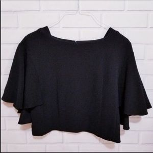 Anthro Eri + Ali Butterfly Sleeves Boxy Blouse